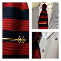 todaystie:  kitsuné shirt and jacket - Brooks Brothers tie- Vintage tie bar