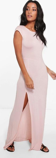 Carrie-Ann Front Split Maxi Dress - Dresses  - Street Style, Fashion Looks And Outfit Ideas For Spring And Summer 2017
