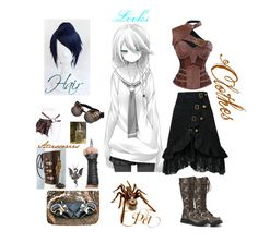 """Steampunk cosplay"" by warrior-nomdeplum ❤ liked on Polyvore featuring Black Orchid and Demonia"