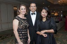 93rd Woman's Board September Gala: (from l) Heather Yu, Antonio Gonzalez and Tina Chan-Gonzalez, Illinois Tool Works