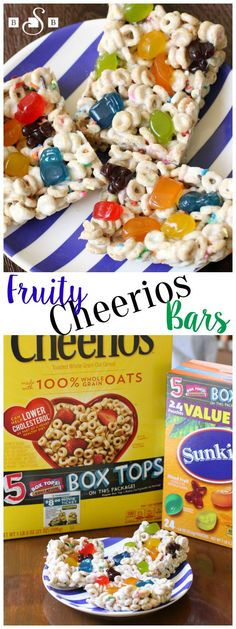 Fruity Cheerios Bars . Box Tops for Education - Butter With A Side of Bread #BTFE