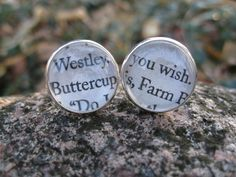 Princess Bride, Buttercup & Westley Cufflinks. As You Wish.  Wedding, Mens Christmas Gift, Dad. Silver Plated. CUSTOM ORDERS WELCOME