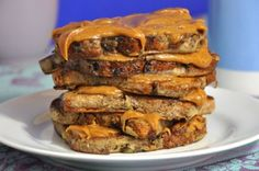 vegan french toast with peanut butter
