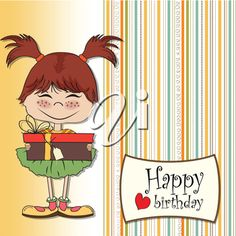 Free Clipart Images, Royalty Free Clipart, Royalty Free Images, Birthday Clipart, Birthday Cards, Happy Birthday, Little Girls, Clip Art, Anime