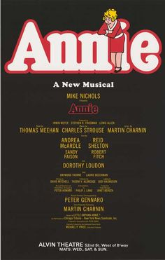 Little Orphan Annie, got to see it LIVE on stage in Chicago <3