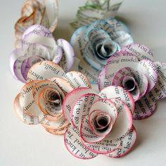 Śliczne, robione ręcznie kwiatki z papieru :)