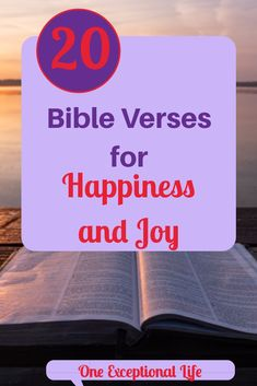 Do you need happiness and joy in your life? The first place I turn is to the Bible. It has always been my go-to for guidance. I have narrowed down your search for happiness in your life. Read on for 20 inspiring Bible verses for happiness and joy. Happy Bible Verses, Biblical Quotes, Biblical Womanhood, Bible Quotes, Scriptures, Christian Faith, Christian Women, Christian Living, Christian Quotes