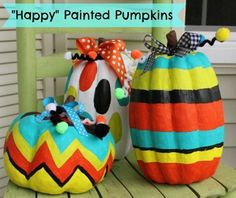 DIY Halloween : DIY Painted Pumpkins DIY Halloween Decor