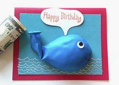 diy whale birthday balloon card - way to cute - a must make! Whale Birthday, Diy Birthday, Handmade Birthday Cards, Happy Birthday Cards, Don D'argent, Birthday Balloons, Creative Cards, Kids Cards, Cute Cards