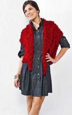 Colete e lenço Vermelho - Fio Cisne Powder Lenços Vermelhos 5842e2040d8