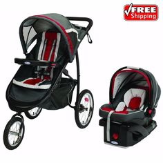 Graco FastAction Fold Jogger Click Connect Travel System Jogging Stroller, Chili | Baby, Strollers & Accessories, Strollers | eBay!