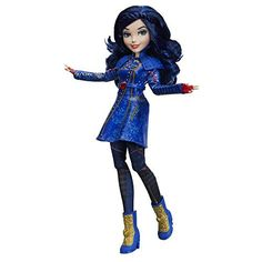 Inspired by Evie of the Isle of the Lost in Descendants this doll from Hasbro comes in the Isle style she wears when she travels back to her wicked homeland to save her best friend Mal of the Isle of the Lost. Disney Descendants Characters, Disney Descendants Dolls, Disney Descendants 2, Disney Dolls, Barbie Dolls, Descendants Games, Barbie Stuff, Disney Princesses, Isle Of The Lost