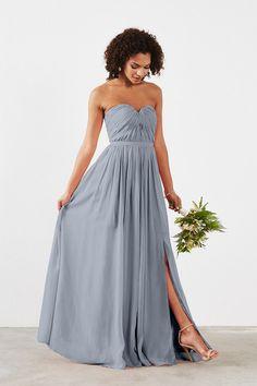 Dove & Dahlia Hailey Bridesmaid Dress in Light blue in Chiffon