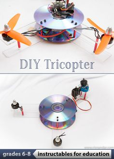 How a tricopter works is really different than a quad, especially on yaw mechanism using a small servo to tilt the motor left and right. Diy Electronics, Electronics Projects, Drone Model, Robotic Automation, Buy Used Cars, Drone For Sale, Drone Technology, Drone Quadcopter, Diy Toys