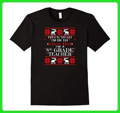 Mens Funny 8th Grade Teacher Gift Ugly Sweater Christmas Shirt Large Black - Careers professions shirts (*Amazon Partner-Link)