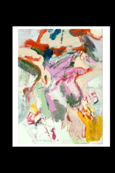 "Willem de Kooning - ""Untitled"", 1969 - Oil on paper mounted on board - 41 3/8 x 30 1/8 in. (*)"