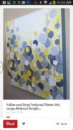Canvas Painting @ DIY Home Crafts Browns for bedroom Crafts To Do, Home Crafts, Kids Crafts, Arts And Crafts, Grey Abstract Art, Grey Art, Abstract Flowers, Painting Flowers, Art Abstrait Gris