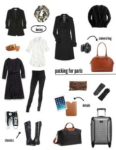 Nice for between weather weekend packing - Top & pants, dress, blazer,  jersey, coat, and scarf to mix-up the looks. Good of your fabric doesn't get smelly, Personally I'd add another top, pyjamas, and a second dress. ^_^