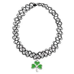 MJARTORIA Handmade Hippy Black Elastic Henna Tattoo Choker Stretch Necklace with Shamrock Charm Pendant MJartoria http://www.amazon.com/dp/B01CJPQEC6/ref=cm_sw_r_pi_dp_ZOw2wb0CD3ARK