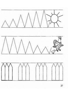 Knitting&Crochet Obsession: Prewriting Practice Sheets - Preschool years old Kindergarten Math Worksheets, Tracing Worksheets, Worksheets For Kids, Pre Writing, Writing Lessons, Prewriting Skills, Pre K Activities, Patterned Sheets, Gross Motor Skills