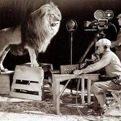 Filming the MGM logo