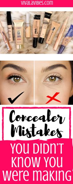 under eye eyeshadow tutorial & eyeshadow under the eye tutorial ; eyeshadow under the eye tutorial make up ; under eyeshadow tutorial ; under eye eyeshadow tutorial ; how to put eyeshadow under eye makeup tutorials Dark Circles Makeup, Concealer For Dark Circles, Makeup Hacks For Dark Circles, Makeup Tips For Oily Skin, Dark Eye Circles, Make Up Tutorials, Beauty Blogs, Beste Concealer, Under Eye Makeup