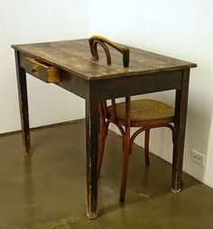 Mona Hatoum often uses furniture in her sculpture and installation work.