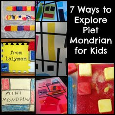 The perfect ways to teach your children about Mondrian! Check out these #Mondrian for Kids #Art projects!