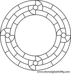 Mirror Stained Glass Patterns Free   Round stained glass mirror pattern