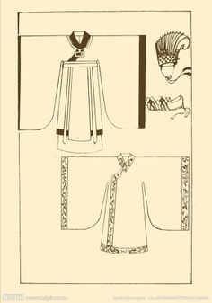Song Dynasty court costumes enlarge Click Restore Craft Patterns, Doll Patterns, Clothing Patterns, Sewing Patterns, Historical Costume, Historical Clothing, Korean Design, Chinese Clothing, Oriental Fashion