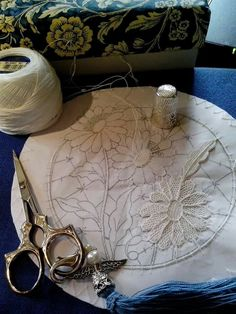 Needle Lace in progress