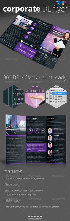 Corporate Trifold DL Flyer Vol.2