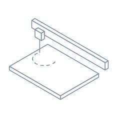 laser machine icon