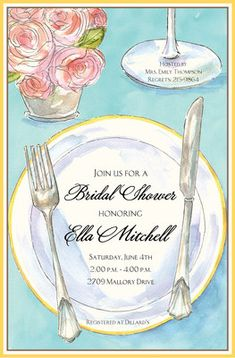 Rose Placesetting Invitations