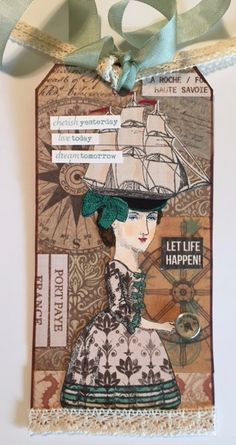 "Character Constructions ""Artist's Choice"" tag swap, January 2016.  Stamps by Catherine Moore."