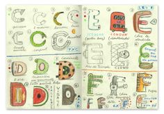 Tom Schamp alphabet sketches B's and C's - in Typography Sketchbooks by Steven Heller & Lita Talarico #lettering #typography