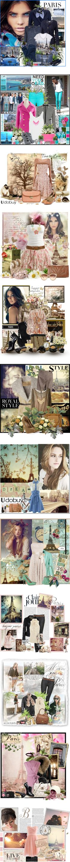 """Un Voyage Vers Paris!"" by kyra-i ❤ liked on Polyvore"