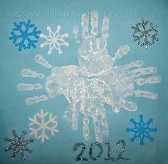 Handprint snowflake :)