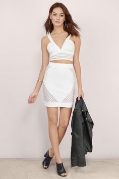 Blind Side Matching Bodycon Set