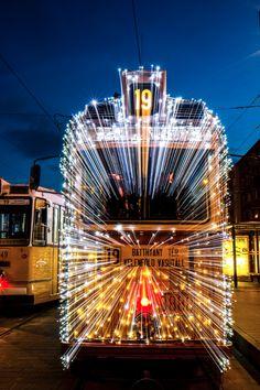 Light Tram with christmas decoratoin :: Budapest :: photo by Riccsi (Richárd Sárközi) Tramway, Urban Life, Merry Little Christmas, Budapest Hungary, Homeland, Tao, Roots, Nostalgia, Wanderlust