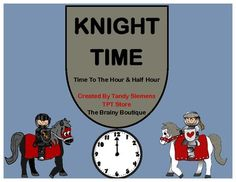 Knight Time is a packet filled with time telling fun!   Included are activities that can be used in math centers, small & large group time, or as individual work & assessment. Students will practice telling time to the hour and half hour while building an important life skill.