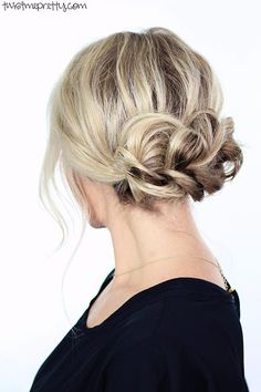 10 Gorgeous Holiday Party Hairstyles: Braided Updo  #hairstyles #hair #partyhair