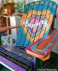 A chair I painted for my front porch!