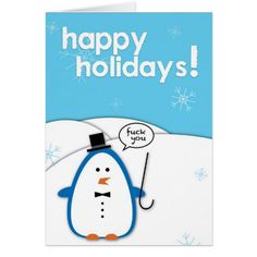 Rude Penguin: F*ck You Card