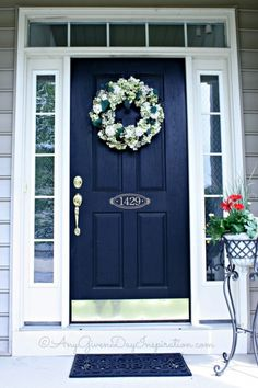 Front Door Colors New 21 Cool Blue Front Doors For Residential Homes  Colored Front Decorating Design