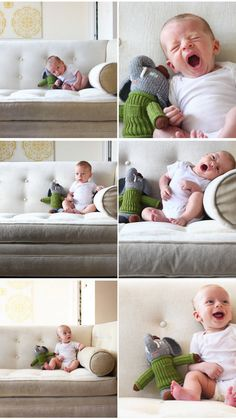 Monthly photos show how fast your baby grows!