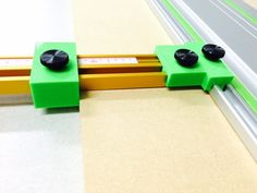 Use these brackets and stops to connect Incra T-Track Plus rails to your Festool Track Saw. This will allow you to cut large panels with ease!