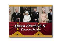 Queen Elizabeth Diamond Jubilee royal family portrait Buckingham Palace postcard
