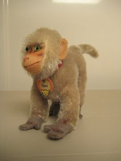 Steiff Vintage Coco Baboon – Bear Face Chest Tag – 4 Inches Tal