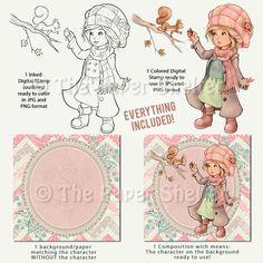 Cozy Winter Wishes - Digital Stamp